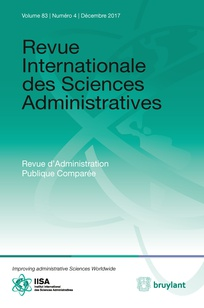 Revue Internationale des sciences administratives Vol.83, N°4 (01/12/2017)