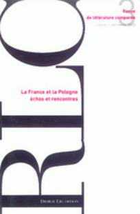 Revue de littérature comparée 2003/3