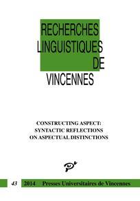 Recherches linguistiques de Vincennes 2015/1