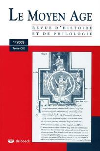 Le Moyen Age 2003/1