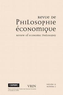 Revue de philosophie économique