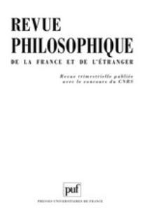 Revue philosophique de la France et de l'étranger 2001/3