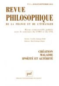 Revue philosophique de la France et de l'étranger 2012/3
