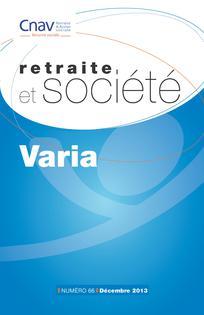 Retraite et société 2013/3