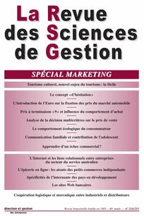 La Revue des Sciences de Gestion 2005/4