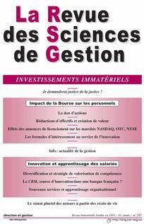 La Revue des Sciences de Gestion 2006/1