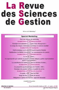 La Revue des Sciences de Gestion 2006/6