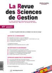 La Revue des Sciences de Gestion 2008/5