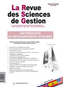 La Revue des Sciences de Gestion 2009/5