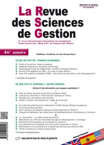 La Revue des Sciences de Gestion 2011/3