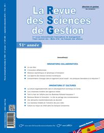 La Revue des Sciences de Gestion