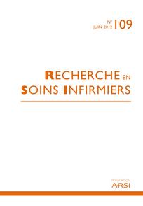 Recherche en soins infirmiers 2012/2