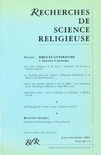 Recherches de Science Religieuse 2001/3