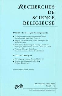 Recherches de Science Religieuse 2006/4