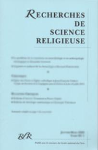 Recherches de Science Religieuse 2009/3