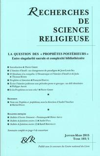 Recherches de Science Religieuse 2015/1