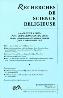 Recherches de Science Religieuse
