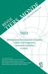 Revue Tiers Monde 2008/3