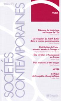 Sociétés contemporaines 2008/3