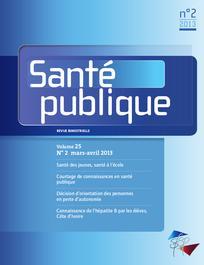Santé Publique 2013/2