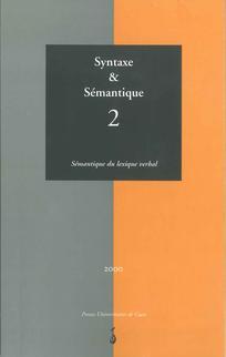 Syntaxe et sémantique 2001/1
