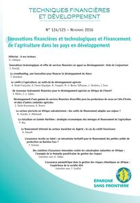 Techniques Financières et Développement