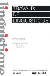 Travaux de linguistique 2001/1