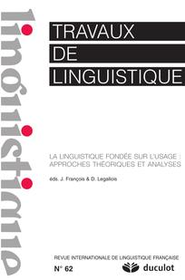 Travaux de linguistique 2011/1