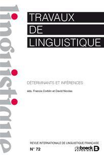 Travaux de linguistique 2016/1
