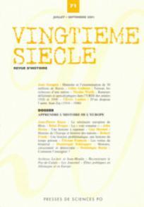Vingtième Siècle. Revue d'histoire 2001/3