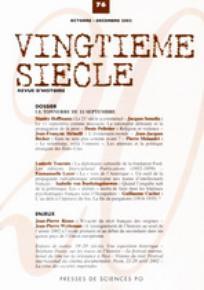 Vingtième Siècle. Revue d'histoire 2002/4