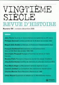 Vingtième Siècle. Revue d'histoire 2009/4