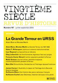 Vingtième Siècle. Revue d'histoire 2010/3
