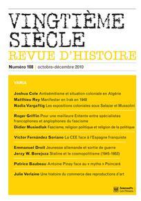 Vingtième Siècle. Revue d'histoire 2010/4