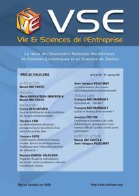 Vie & sciences de l'entreprise 2013/1