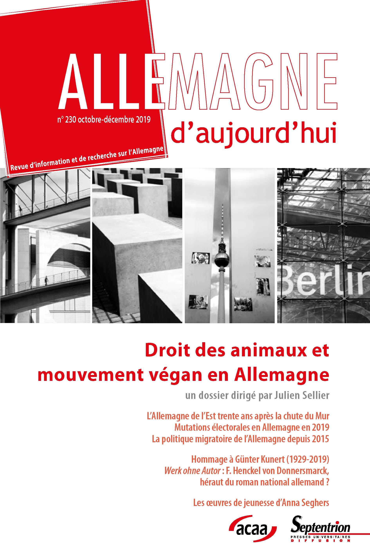 Introduction. Question animale en Allemagne : les mondes politique et économique sous pression