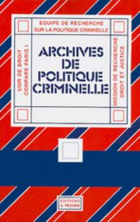 Archives de politique criminelle 2007/1