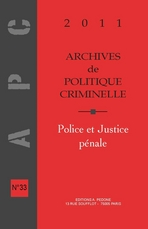 Archives de politique criminelle 2011/1