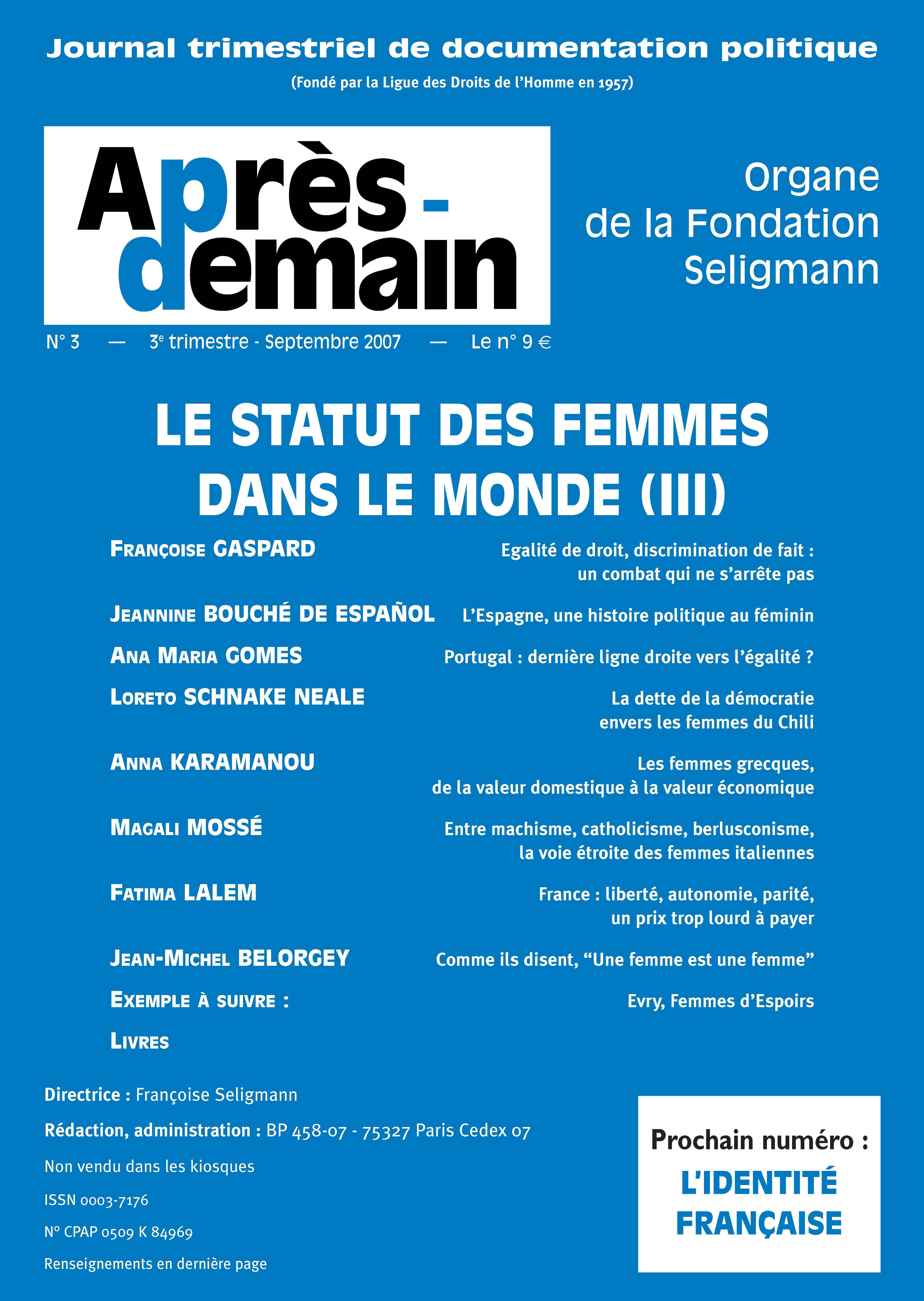 L Espagne Une Histoire Politique Au Feminin Cairn Info