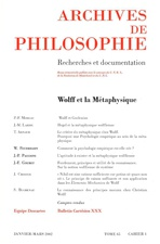 Archives de Philosophie 2002/1