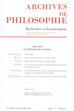 Archives de Philosophie 2004/2