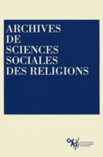 couverture de Archives de sciences sociales des religions 2001/4