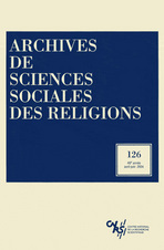 Archives de sciences sociales des religions 2004/2