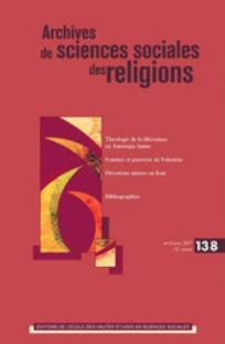 couverture de Archives de sciences sociales des religions 2007/2