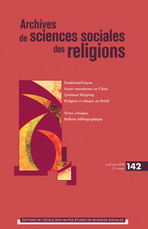 Archives de sciences sociales des religions 2008/2