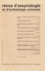 Revue d'assyriologie et d'archéologie orientale 2006/1