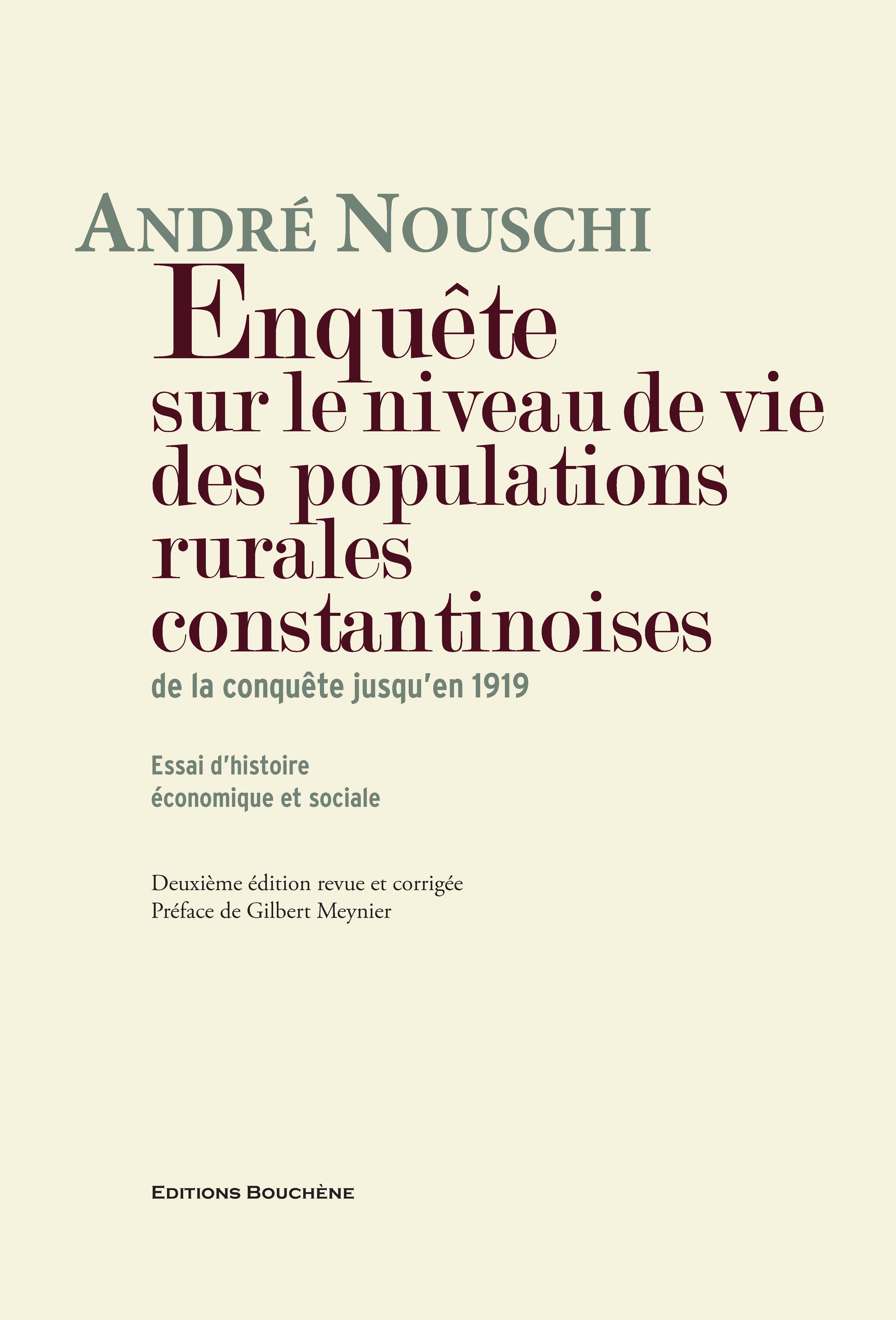 De Lalgérie Du Terroir à La Recherche Historique André