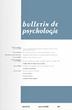 Bulletin de psychologie 2008/5