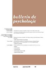 Bulletin de psychologie 2009/1