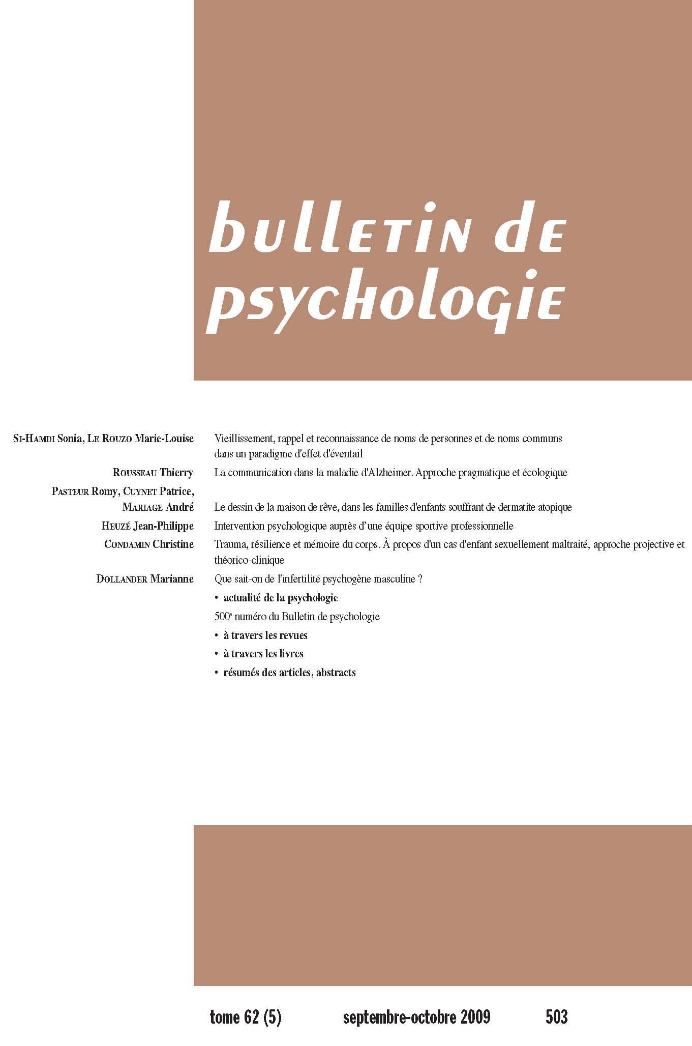 livre infertilité psychologie